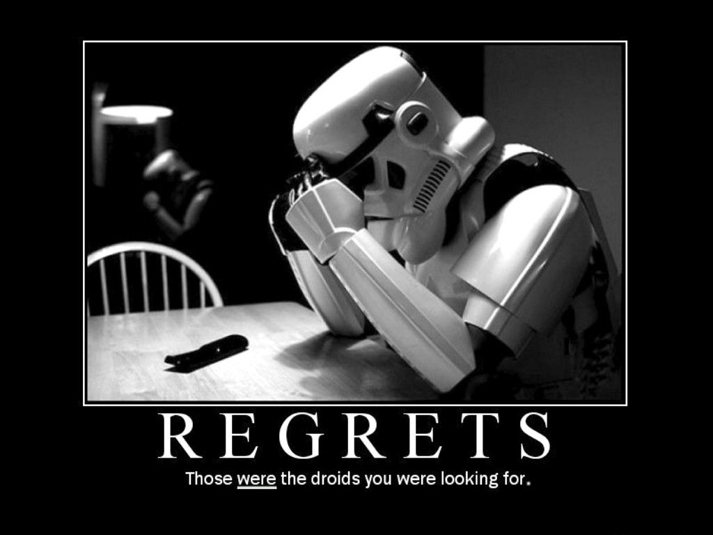 Don't Live with Regrets