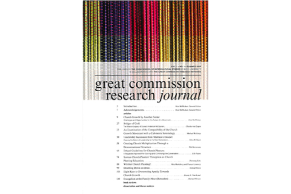 My First Article in The Great Commission Research Journal