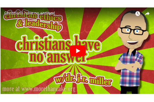 Christians have no answer!
